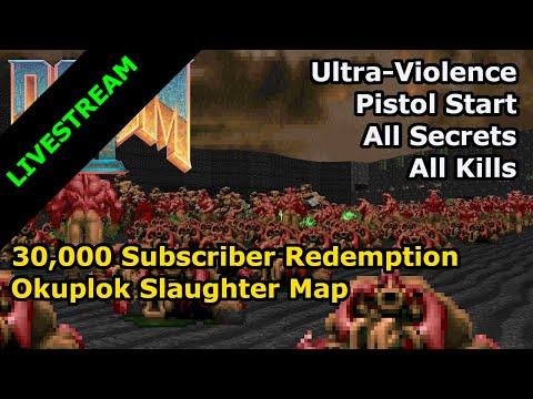 Doom II - Okuplok Slaughter Map (Ultra-Violence 100%)