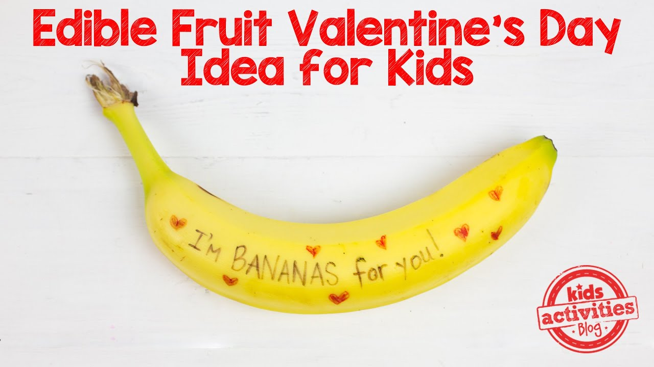 Valentine Fruit Im Bananas For You Edible Fruit Valentines Day Idea Youtube