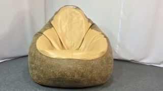 Кресло мешок груша из эко-кожи - обзор | ТМ PromoPuff - мебель от души