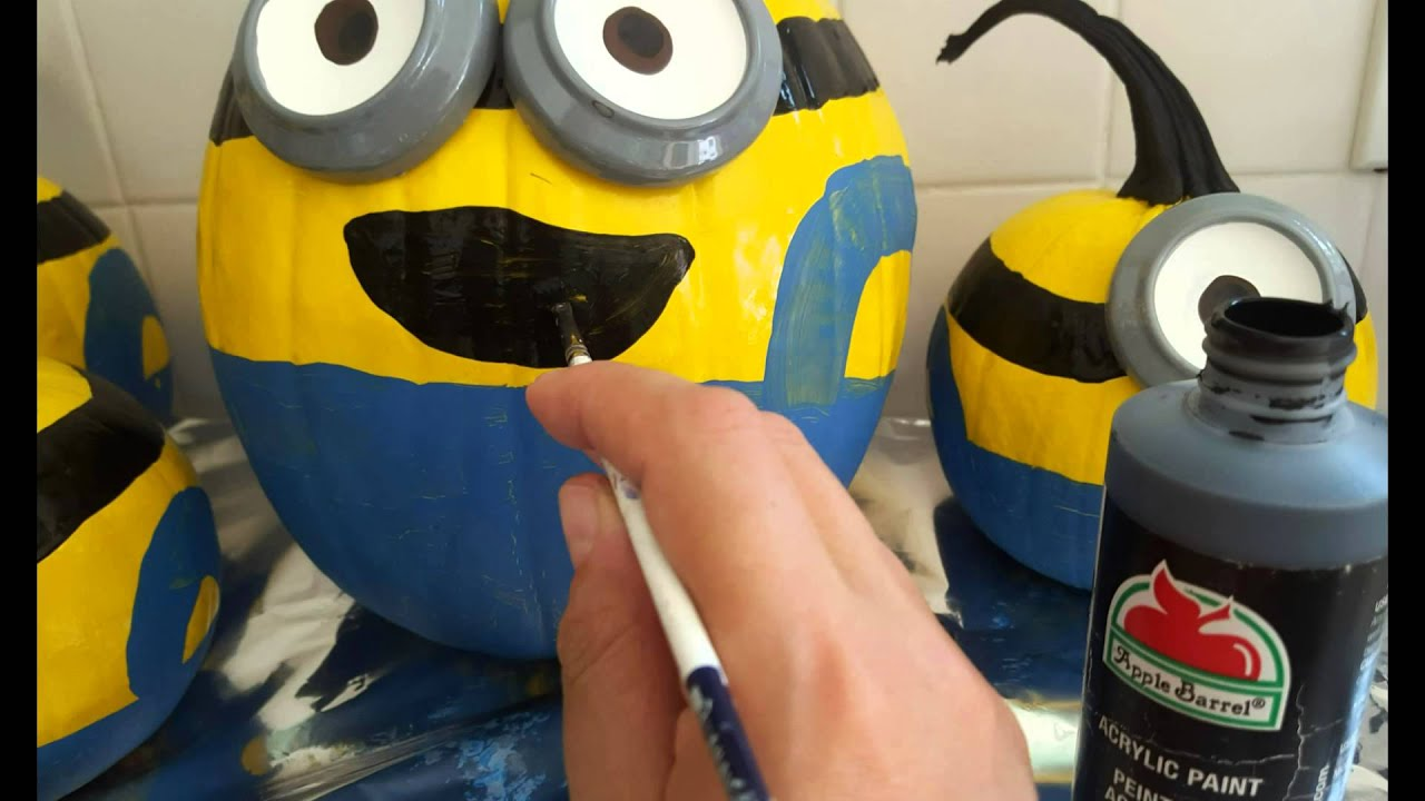 Painted Minion Pumpkins How To Make Minion Pumpkins With 2 Lite Chicks Youtube
