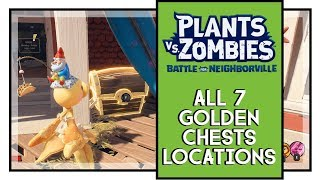 Plants VS Zombies BFN All Golden Chests Locations Town Center