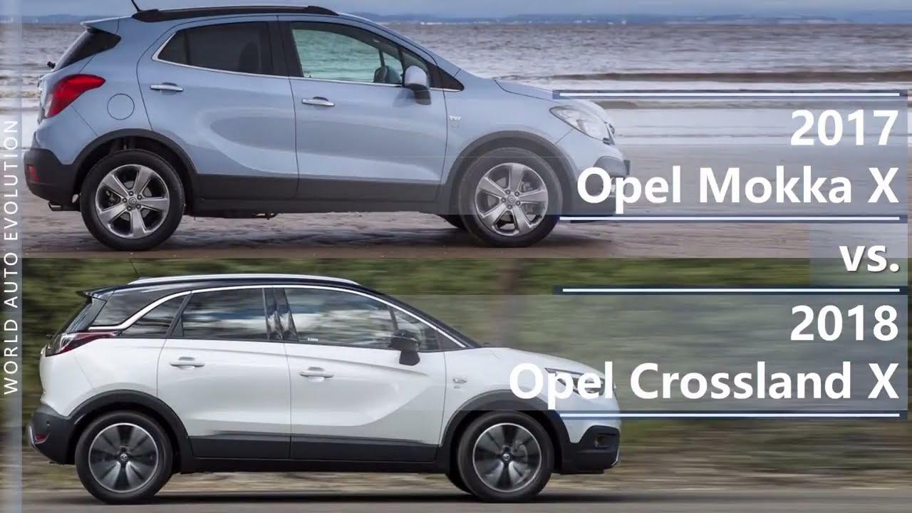 2017 Opel Mokka X vs 2018 Opel Crossland X (technical ...