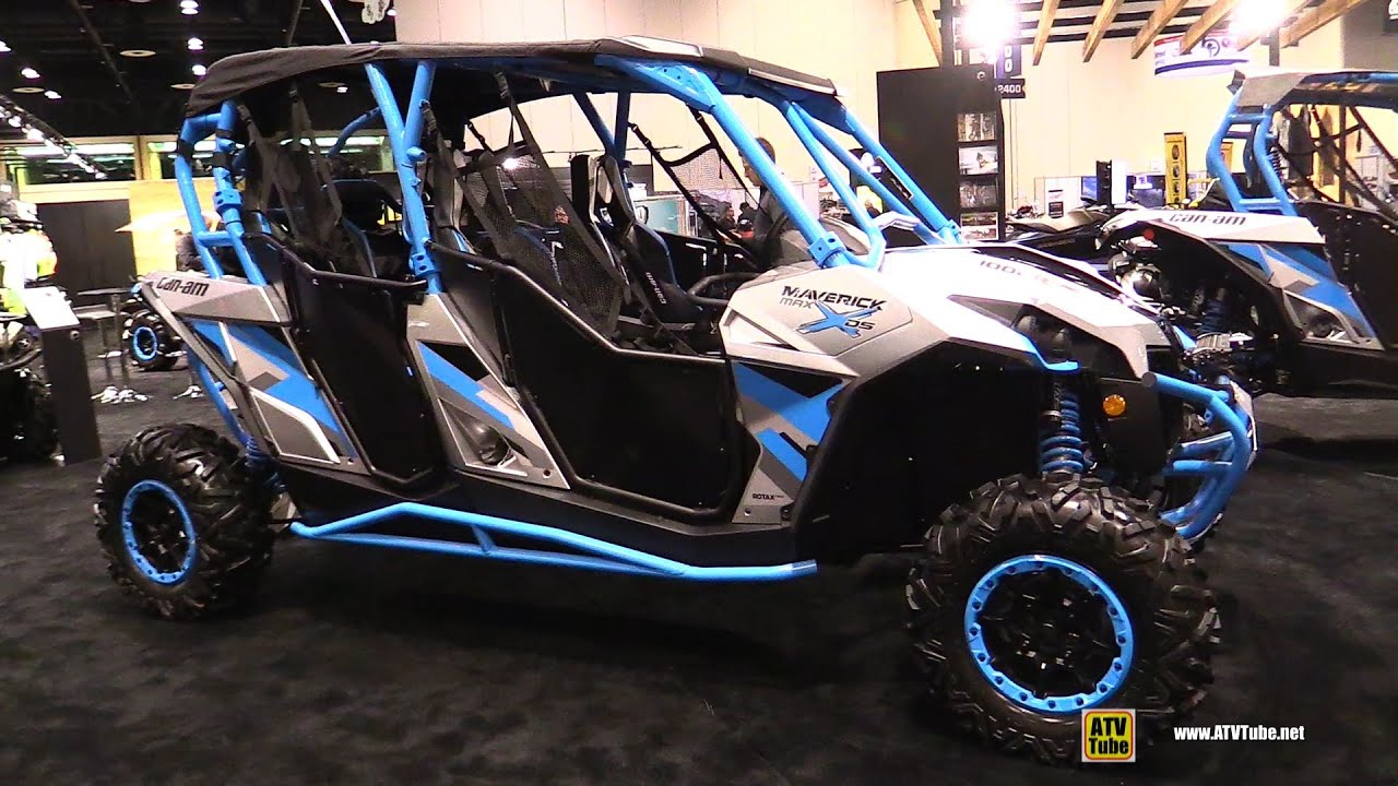 Can Am Mavrick >> 2016 Can Am Maverick Max X DS 1000R Turbo Side by Side ATV - Walkaround - 2015 AIMEXPO Orlando ...