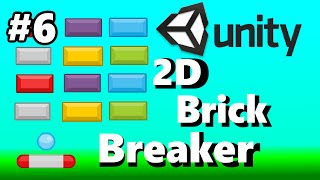 6. Unity 2D Brick Breaker Game Tutorial - Adding Boundaries