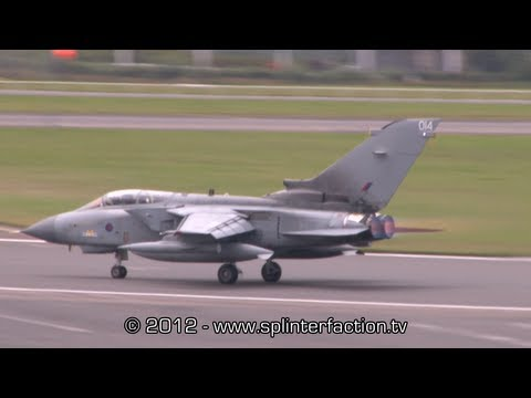 RAF Panvia Tornado role demo flight display at Farnborough Airshow 2012 1080 HD
