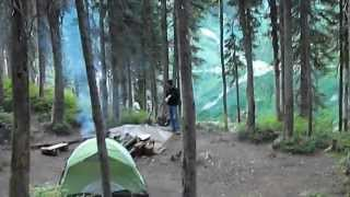 Camping out at Little Spar Lake Montana, Sept. 2012