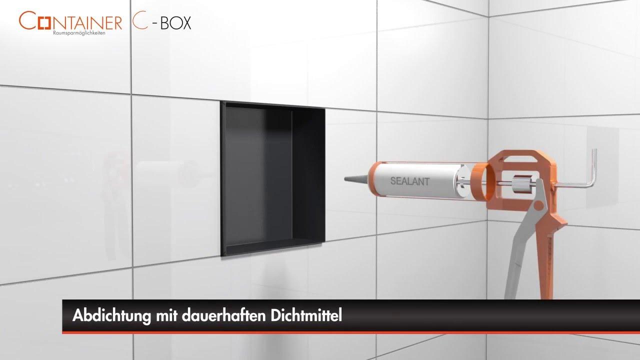 wandnische einbau im badezimmer (trockenbau) - container c-box, Badezimmer