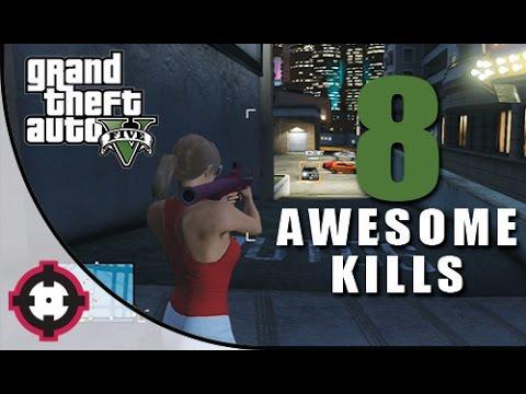 GTA 5 Gameplay // 8 Awesome Kills in Free Roam!