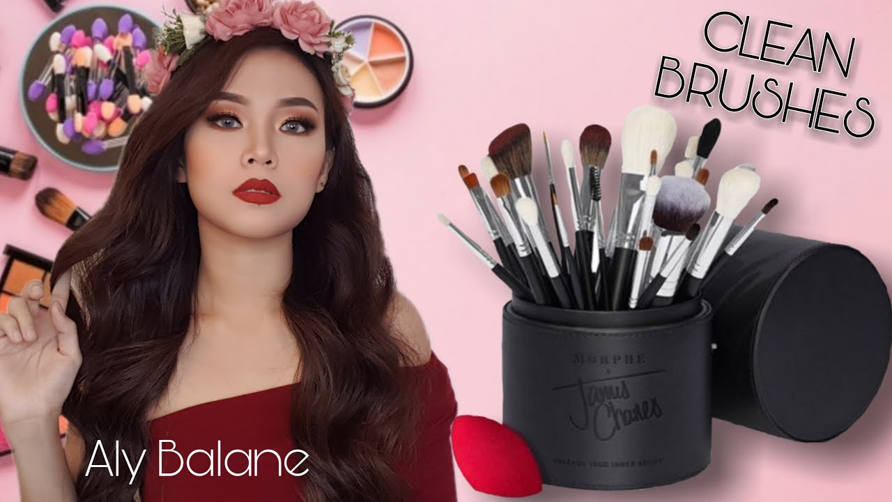 Cleaning my Makeup Brushes / Easiest Way / Using Baby Soap / Aly Balane #MakeupBrushes