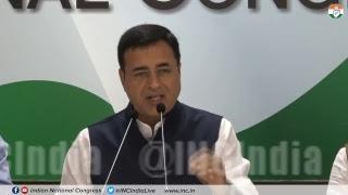 AICC Press Briefing By Randeep Singh Surjewala at Congress HQ on Rafale Deal Scam