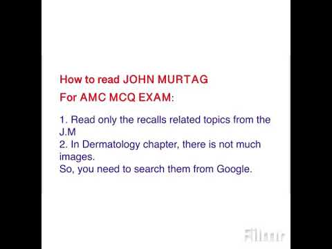 How to read John Murtag For AMC MCQ (CAT)