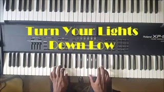Bob Marley Turn Your Lights Down Low Piano Instrumental Cover