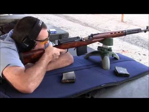 SVT 40 Shooting with Reproduction Magazines