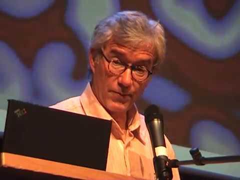 Rudy Rucker speaks at de Zwijger/de Waag in Amsterdam, 2007