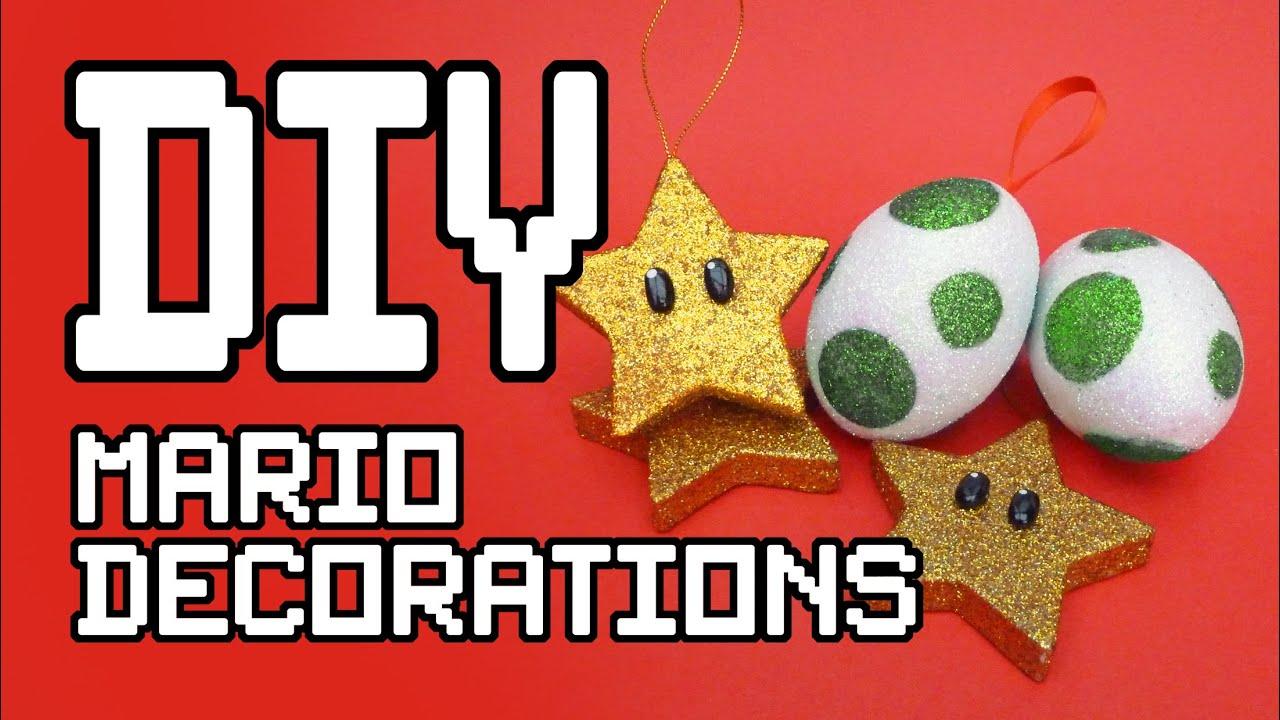 Mario Christmas Decorations DIY Tutorial - YouTube