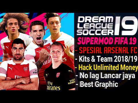 Download Dream league soccer 18 mod FIFA 19 Spesial Arsenal Kits & Squad 2018/2019 | Unlimited Money Mp3