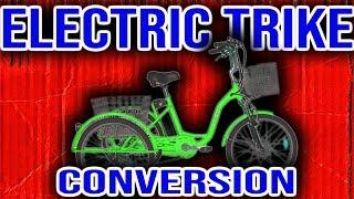 Review of 500W Electric Bike Conversion Kit. EBIKEKIT.COM Trike e-bike kit.