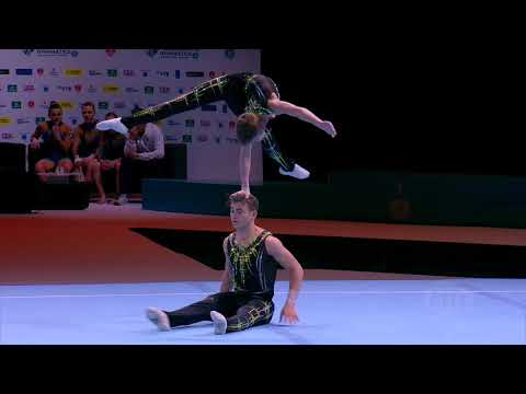 2018 Acrobatic Worlds – Great Britain, Men's Pair Qualifications