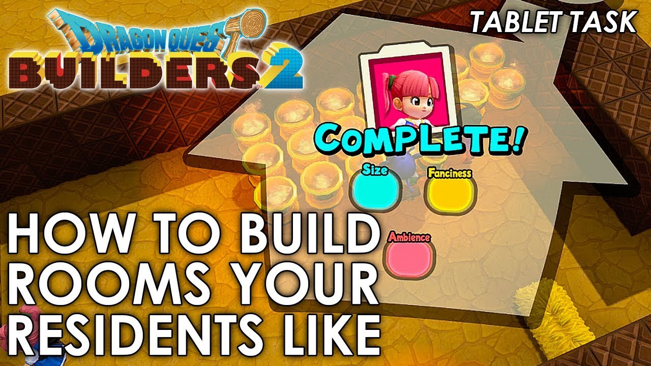 Dragon Quest Builders 2 Build A Room To Your Residents Liking Guide Youtube Unlocking all trophies will require a lot of time spent in the game. dragon quest builders 2 build a room to your residents liking guide
