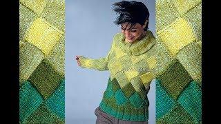 Пуловер Пэчворк Спицами - 2019 / Pullover Patchwork Knitting needles