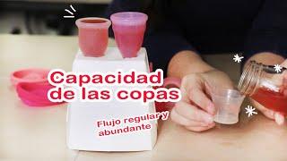 Platiquemos de la capacidad de las copas menstruales | Copa Menstrual México | Menstruación