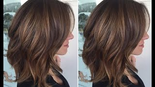 How to cut round layers haircut - Long layered bob haircut Step by step