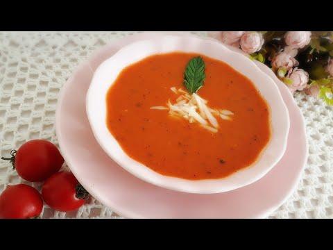 شوربة الطماطم التركية 🍅🍅رااائعة فقط في 5دقائق