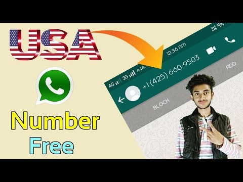 How To Generate USA Number For Whatsapp Free || Whatsapp Trick 2018 || Get U.S Fake Number Free (+1)