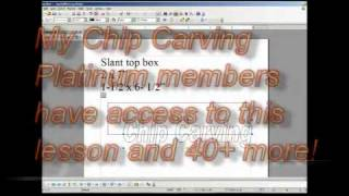 Chip Carving 142 - Computer Use, Lettering