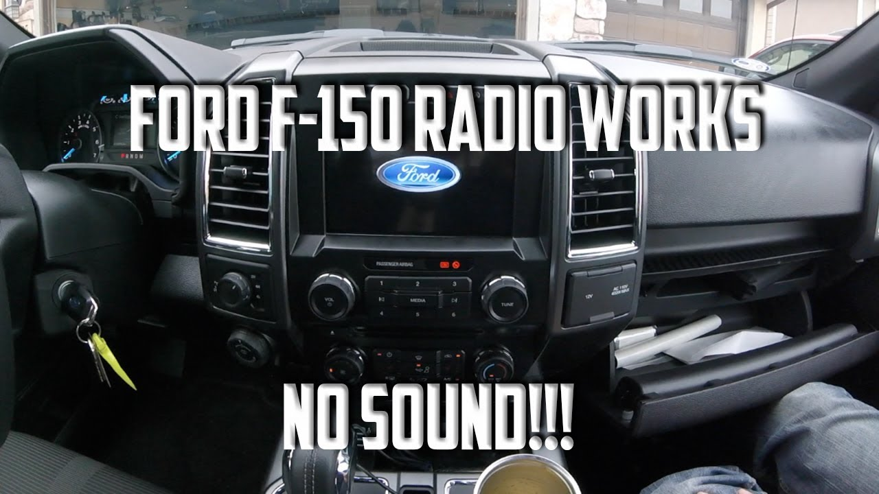 Ford F150 Radio Works No Sound Audio How To Fix Youtube