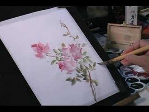 Watercolor Painting Tutorial Roses And Butterfly Youtube