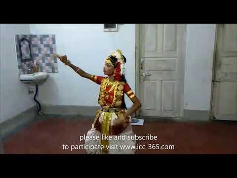 aigiri nandini traditional song dance by a small girl