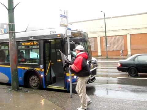 Transferring from Trolleybus 9-Alma/UBC to 99 B-Line