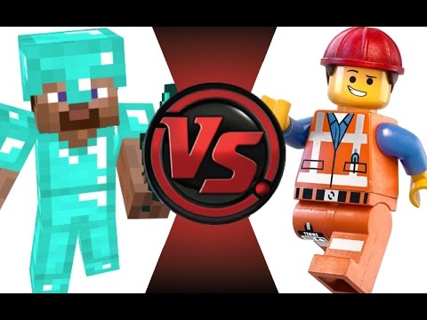 MINECRAFT STEVE vs LEGO EMMET! Cartoon Fight Club Episode 21