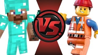 MINECRAFT STEVE vs LEGO EMMET! Cartoon Fight Club Episode 21