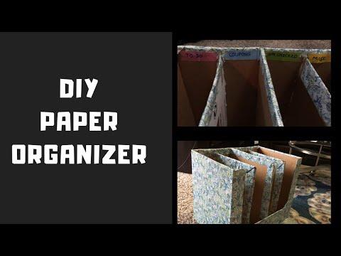 How to make DIY PAPER ORGANIZER / Desk Organization / Organize Paper Clutter