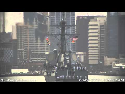 Carl Vinson Strike Group Return to San Diego Recorded June 4, 2015 [Shelter Island East Camera]