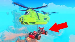BUILDING A CAR LIFTING HELICOPTER! (Trailmakers)