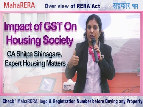 Impact of GST On Co-Operative Housing Society, CA Shilpa Shinagare, Expert Housing Matters
