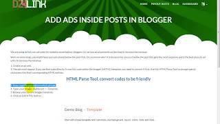 Add ads inside posts in blogger شرح وضع الاعلانات داخل المواضيع في مدونة بلوغر