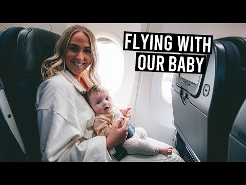 Flying with Our 2 Month Old Baby | Baby's First Flight