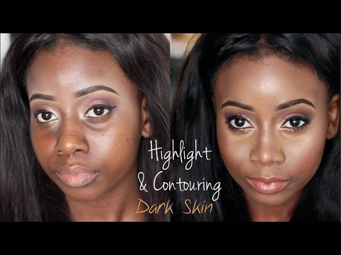 Highlighting And Contouring Deep Skin Tones Dark Skin