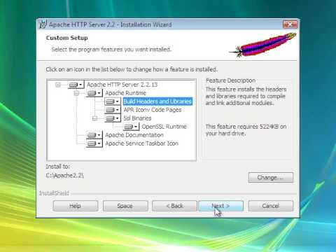 How to install Apache HTTP Server 2.2.13 for Windows