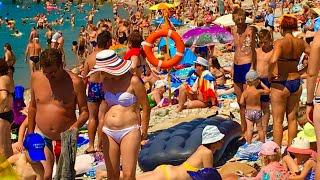 Геленджик. ПОГОДА 3 августа 2019г. Толпы людей на пляже!