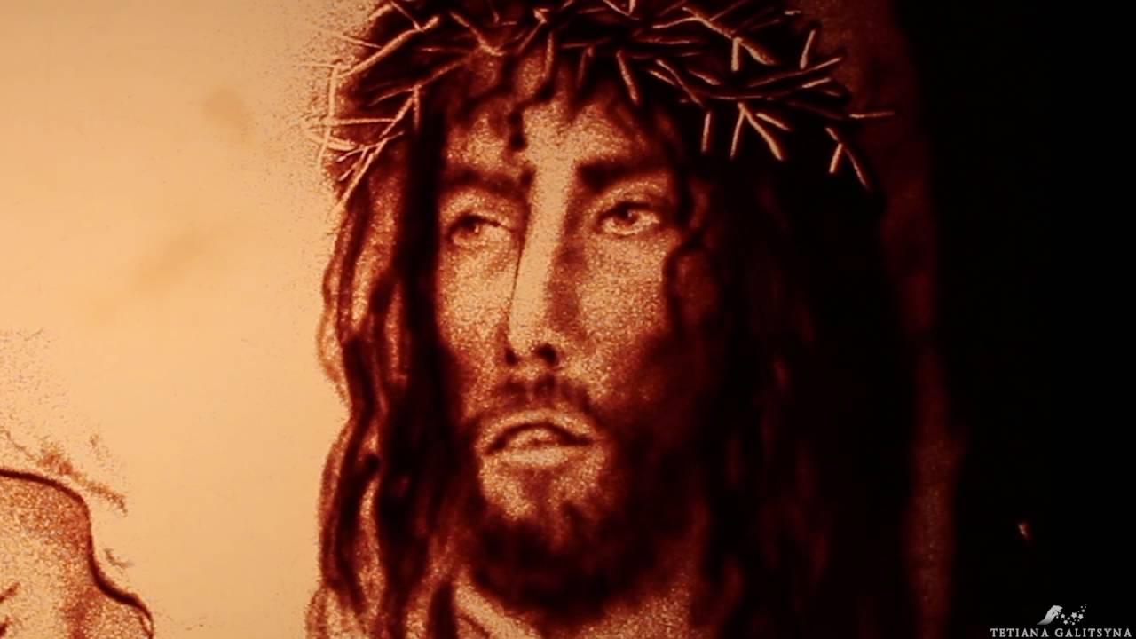 Malowanie Piaskiem Jezus Chrystus Sand Animation Jesus Christ By