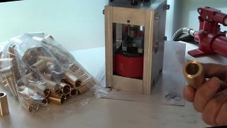 the making of a solid brass guitar slide
