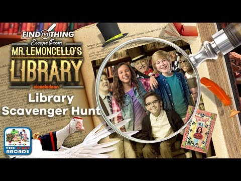 Find The Thing: Escape From Mr. Lemoncello's Library  Library Scavenger Hunt Nickelodeon Games