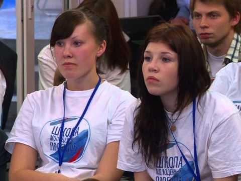 Сергей Белоконев на защите молодежных проектов.