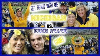 GRWM: Michigan vs Penn State Football Game | Makeup, Hair & Outfit feat. KRZA Headbands! Thumbnail