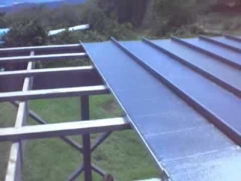 Putting Clips On Standing Seam Roofing Panels Flv Youtube